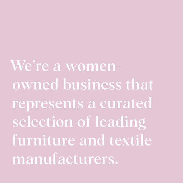 We are incredibly proud of our all-female staff, who work together as a powerhouse team to support our amazing clients, talented specifiers, and visionary manufacturer partners!  ⠀ Today, we'd love to raise support for fellow women leading the way.  Tag your favorite businesses & inspiring women below- we'd love to meet them!